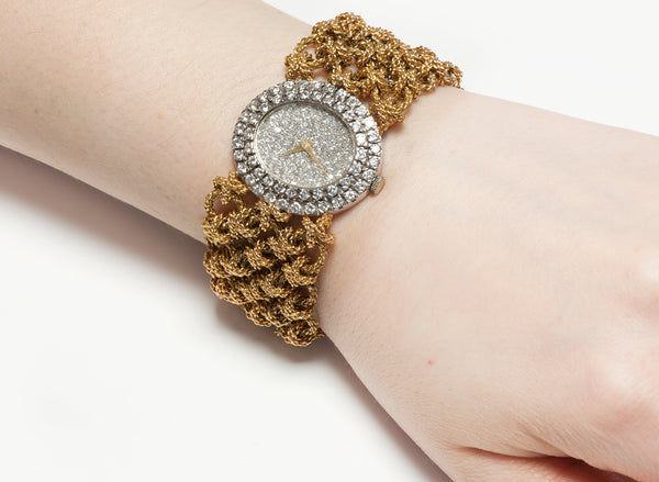 Diamond Bracelet Watch Gold