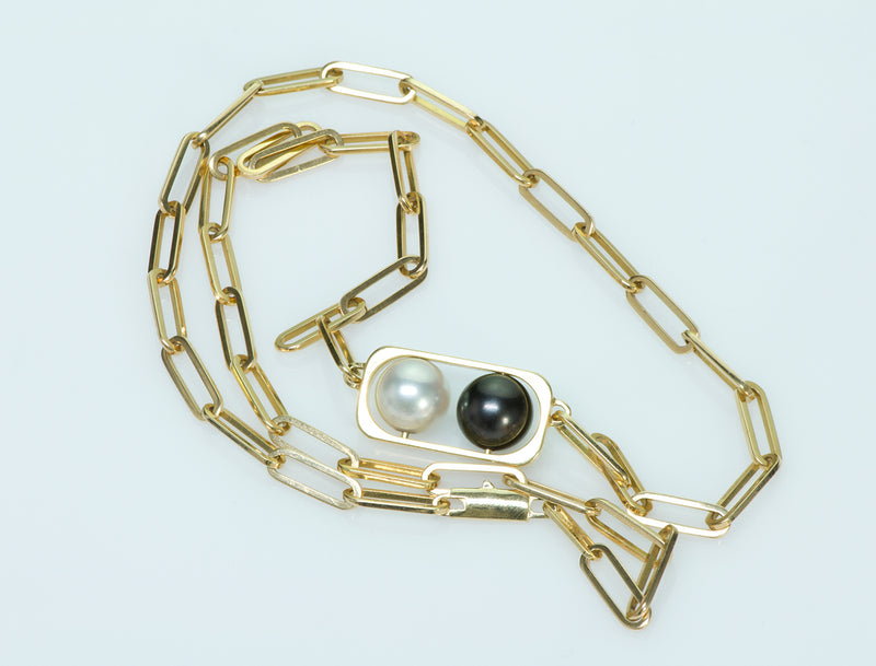 Dinh Van Pearl Gold Ring & Necklace Set