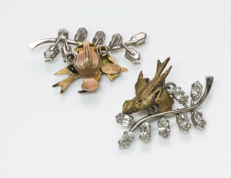 "Christian Dior 1956 ""Bal des Oiseaux"" by Mitchel Maer Bird Earrings"