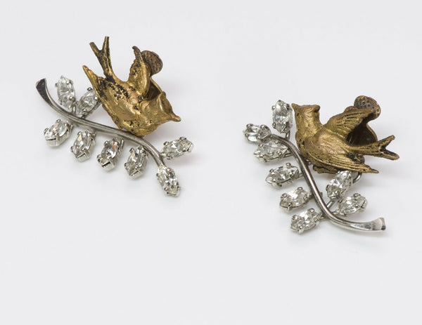 "Christian Dior ""Bal des Oiseaux"" by Mitchel Maer Bird Earrings"