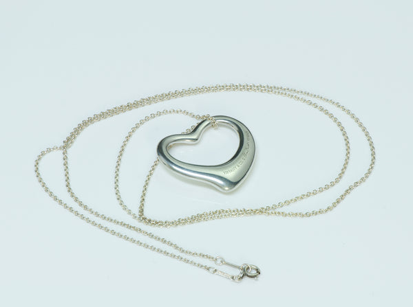 8af352ef1 Tiffany & Co. Elsa Peretti Silver Large Open Heart Pendant ...