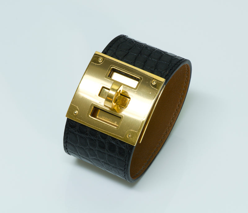 Hermes Genuine Alligator Kelly Bracelet