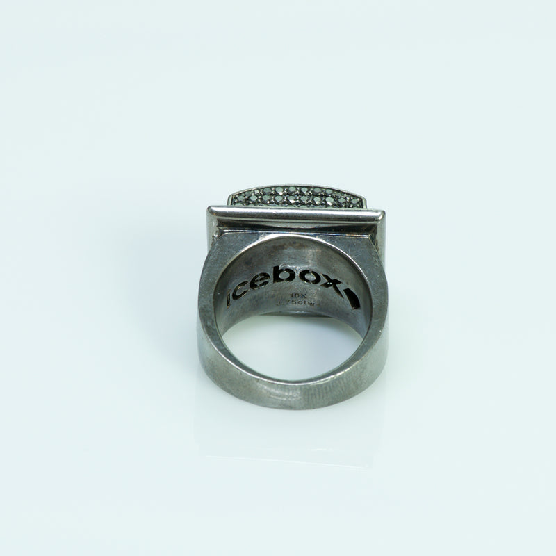 Icebox 10K Gold 3.75 ctw Black Diamond Men's Ring
