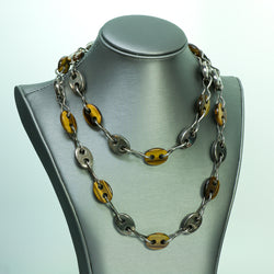 Tiger Eye Sterling Silver Vintage Necklace