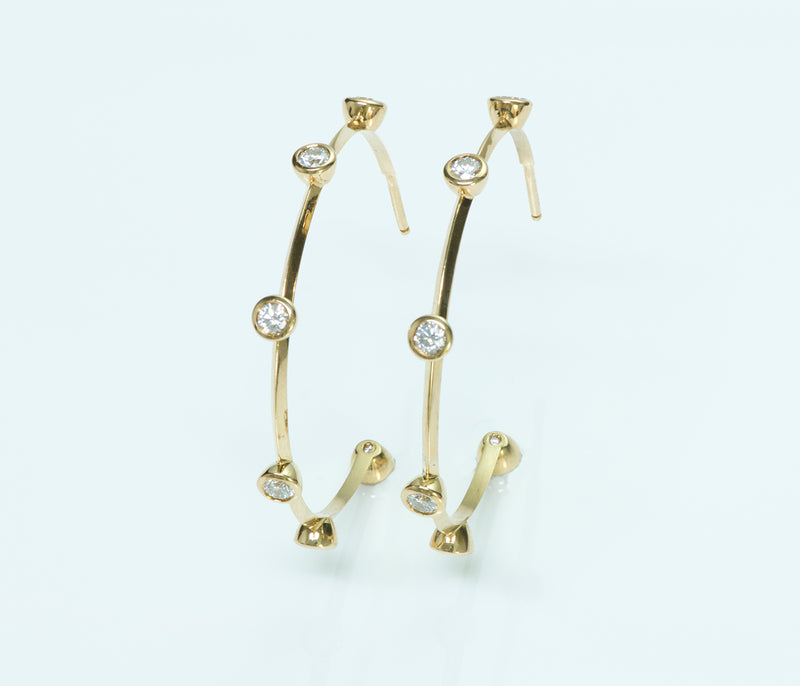 De Beers 18K Gold Diamond Earrings