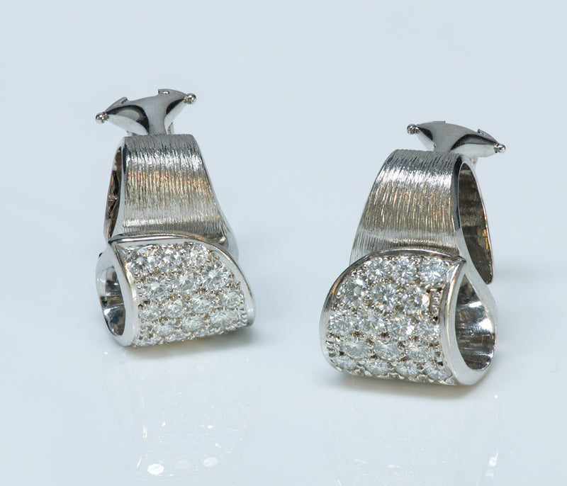 Henry Dunay Platinum Diamond Earrings