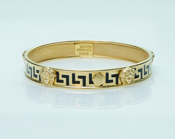 Gianni Versace Medusa Gold Enamel Bangle