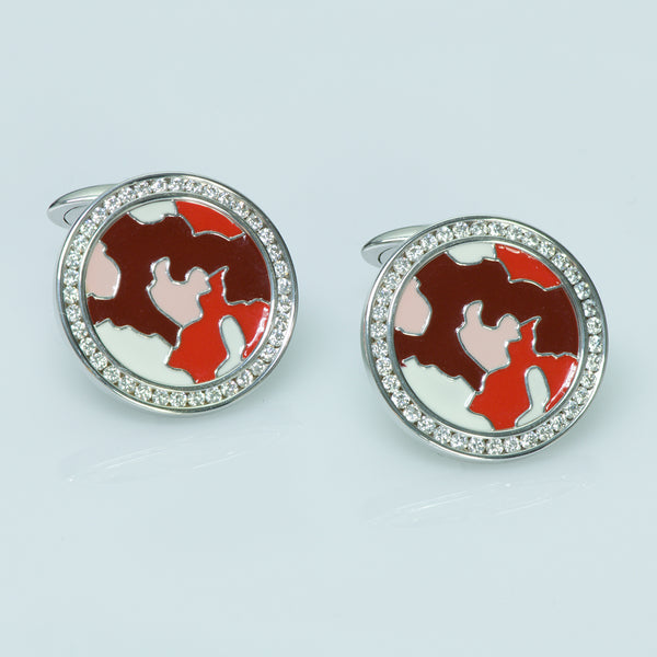 Jacob & Co Diamond Enamel Cufflinks