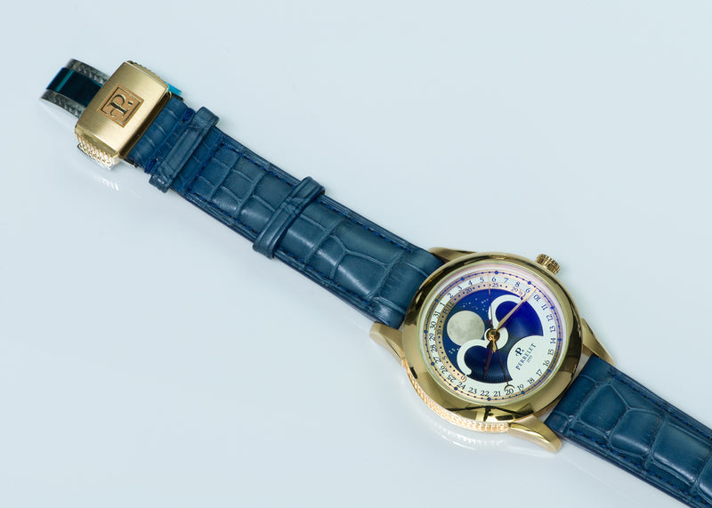 Perrelet A3013/A0048 Moon Phase Automatic 18K Gold Watch