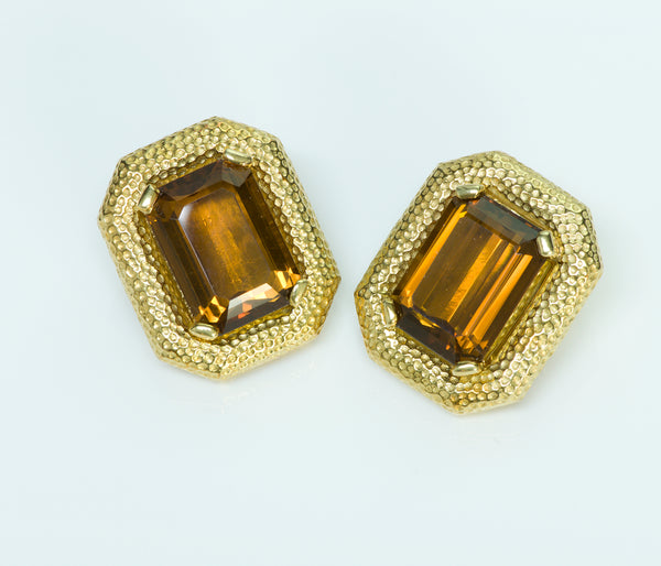 Tambetti Citrine 18K Gold Earrings