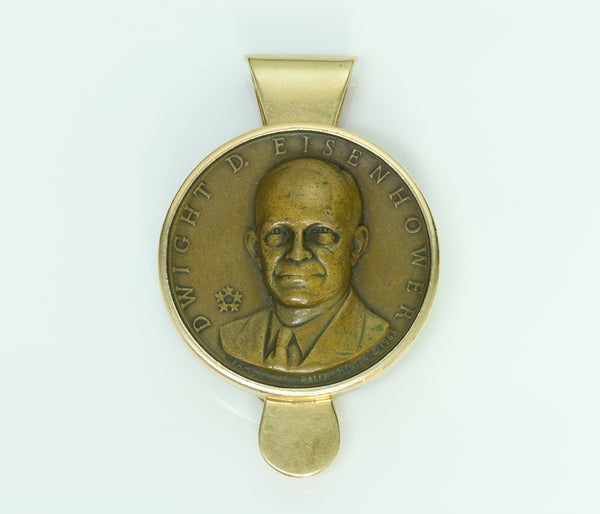 Tiffany & Co. Eisenhower Presidential Medallion 14K Gold Money Clip