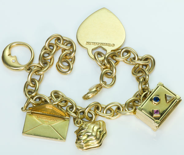 Tiffany & Co. 18K Gold Charm Vintage Bracelet