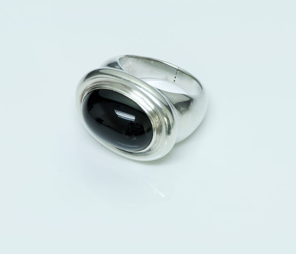 Tiffany & Co. Paloma Picasso 925 Cabochon Onyx Vintage Ring