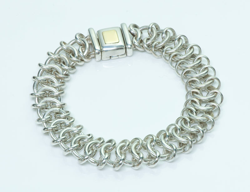Tiffany & Co. Vintage Sterling Silver Gold Bracelet