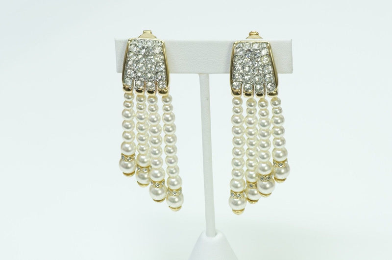 Swarovski Pearl Drop Earrings 1980