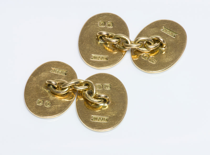 Four Vices 18K Gold Enamel Cufflinks  WJH