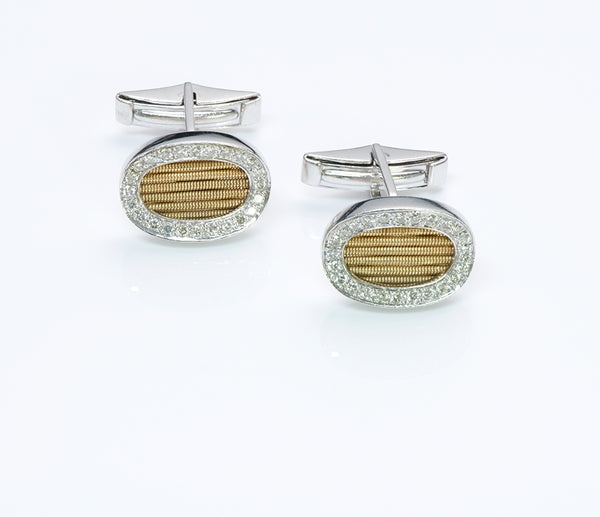 Gold Diamond Vintage Cufflinks