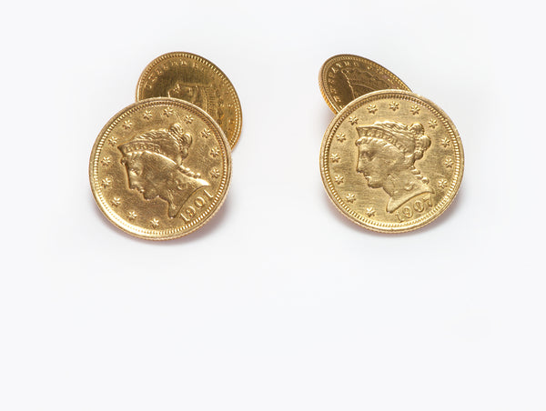 22K Yellow Gold Coin Cufflinks