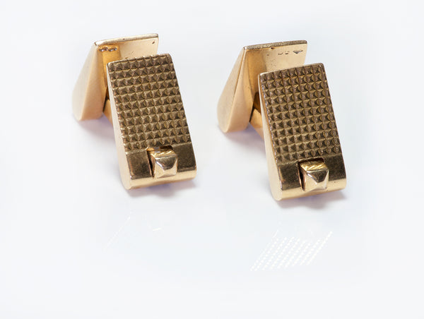 Retro Cartier 18K Yellow Gold Cufflinks