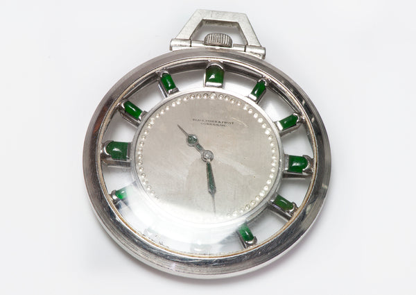 Jade Black Starr Frost Gorham Platinum Pocket Watch