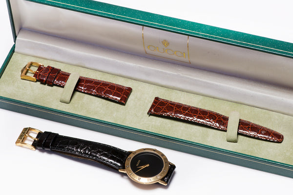 Gucci 3000.2.M Gold Plated Watch t