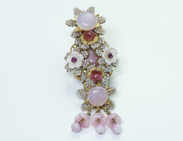Stanley Hagler Beaded Crystal Brooch