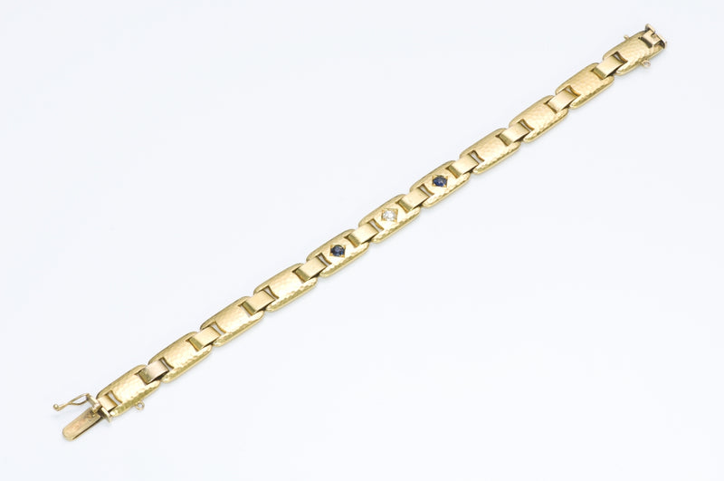 Antique Gold Sapphire Diamond Bracelet
