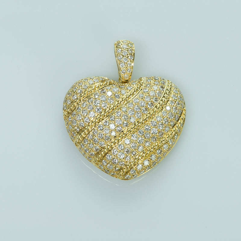 Gold and Diamond Heart Pendant