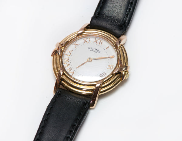 Hermes 18K Gold Ruban Ladies Watch