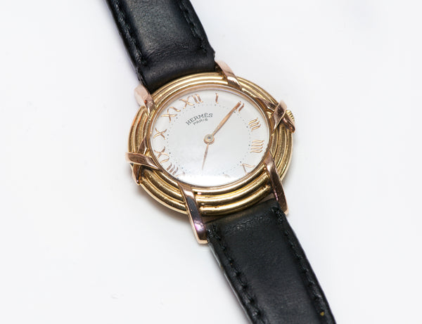 Hermes Ruban Rouge 18K Gold Women's Watch