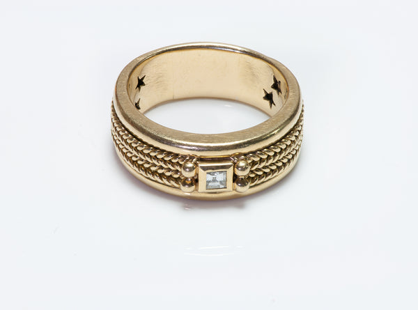 H. Stern 18K Y Gold Diamond Men's Ring