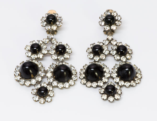 Kenneth Jay Lane KJL Cabochon Crystal Earrings