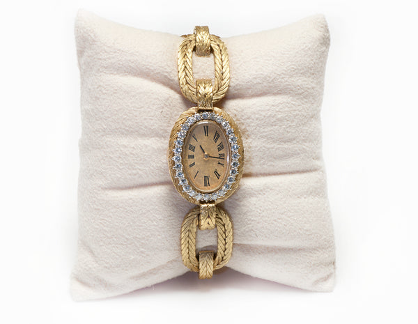 18K Gold Diamond Ladies Watch
