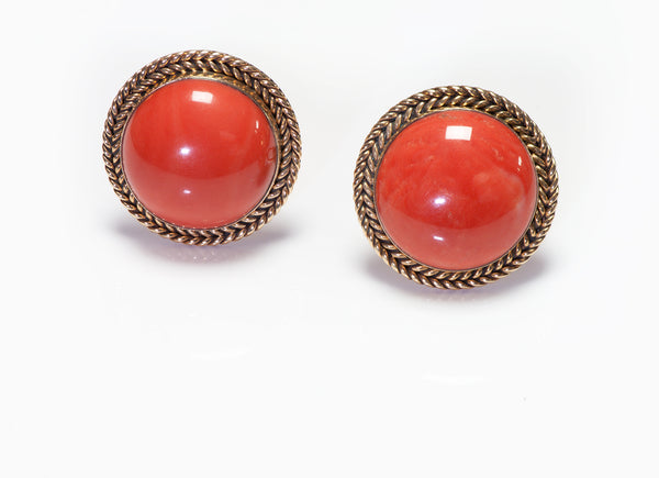 Coral Gold Men's Cufflinks