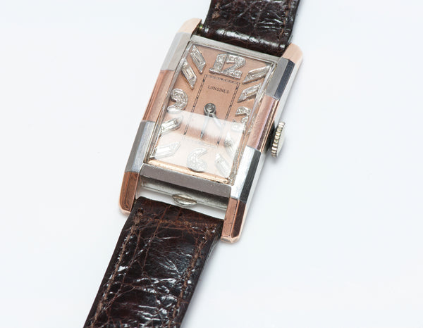 Vintage Longines Platinum Gold & Diamond Watch