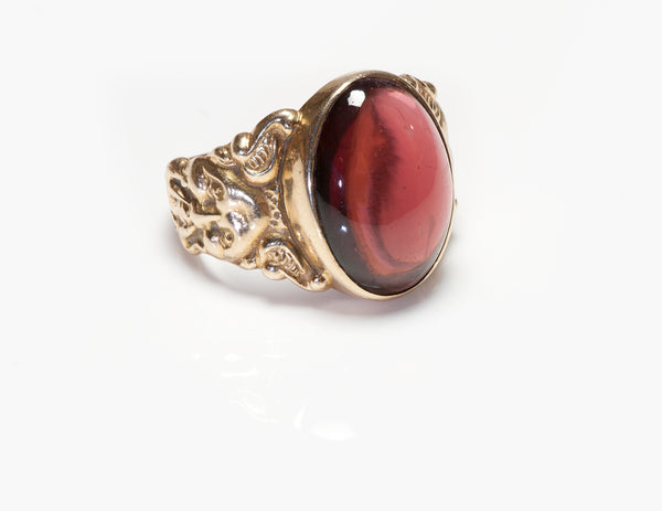 Antique Gold Garnet Men's Ring