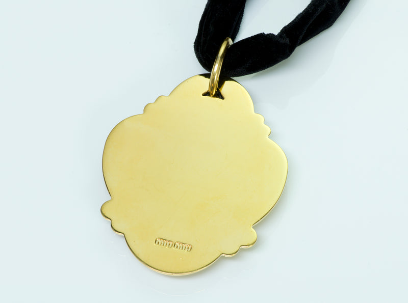 Miu Miu by Prada Cameo Necklace