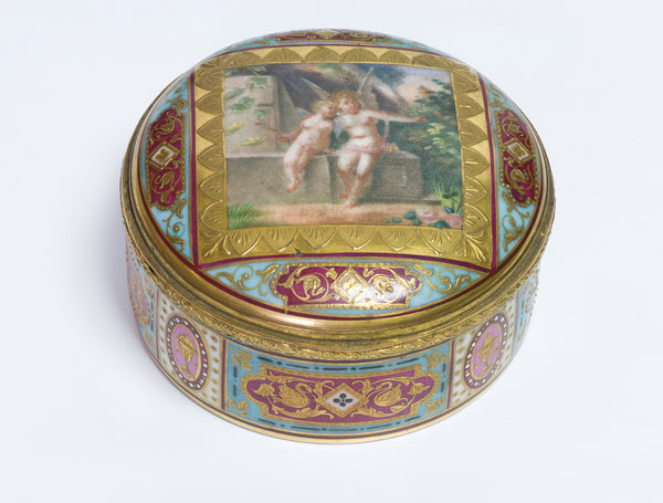 Antique Nude Erotica Cherubs Box
