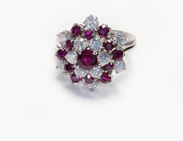 Oscar Heyman Platinum Ruby Diamond Ring