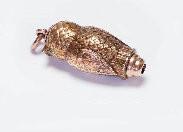 Antique Gold Owl Fob Mechanical Pencil
