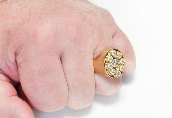 Mens Diamond Gold Mens Ring