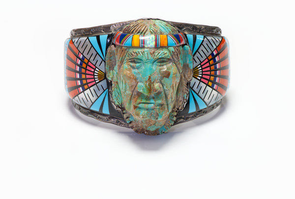 Ronnie Ramil Glodove RRG American Indian Inlay Cuff Bracelet