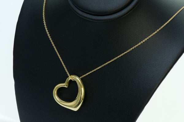 Tiffany & Co. Peretti Open Heart Gold Pendant