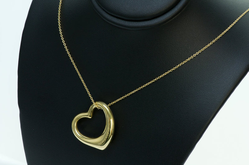 Tiffany & Co. Elsa Peretti Open Heart Gold Pendant