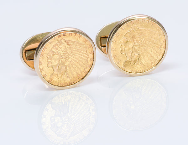 Tiffany & Co. 22k Gold Coin Cufflinks
