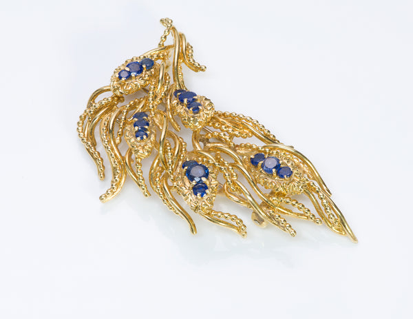 Tiffany & Co. Gold Sapphire Brooch