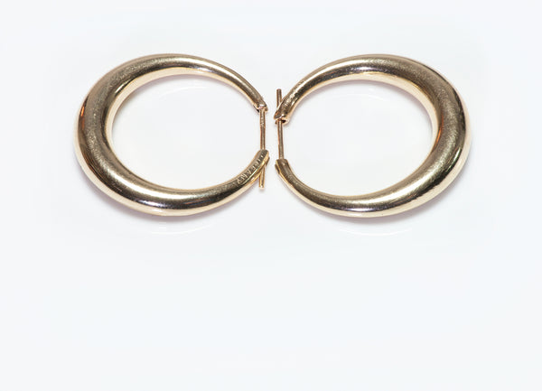 Vintage Tiffany & Co. Yellow Gold Hoop Earrings