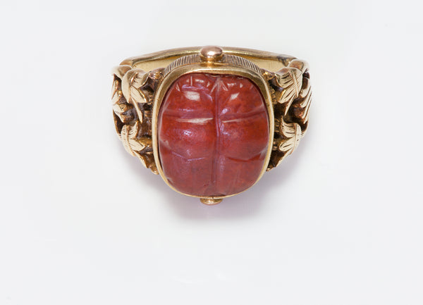 Antique Tiffany Co Scarab Ring