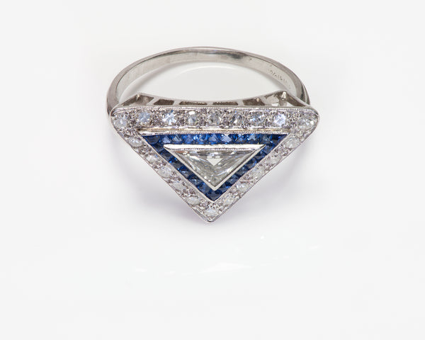 Art Deco Triangle Diamond Ring