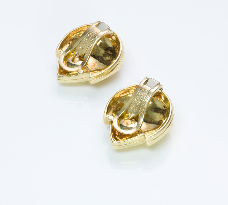 Van Cleef and Arpels Gold Heart Earrings